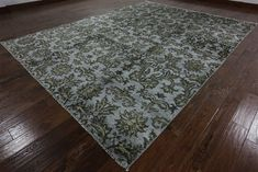 9 x 12 Modern Pure Silk Hand Knotted Area Rug