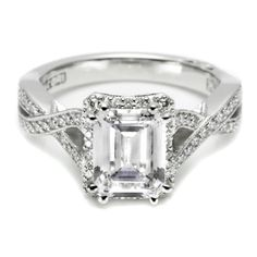 A FAVORITE! Tacori Dantela Platinum Engagement Ring 2627 EC LG for about $6,550.00