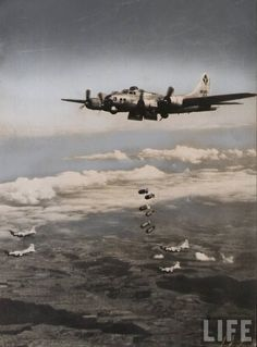 US AIR FORCE Big raid by the 8th Air ForceWorld War 2 WWII 8x12 Photo Picture