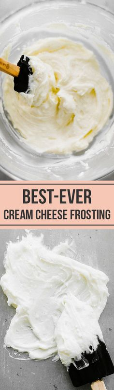 Can you guess the SECRET ingredient?! This truly is the best cream cheese frosting, creamy and stiff enough to pipe, without being too sweet!