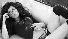 megan fox. of course she can rock a pair of glasses.
