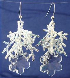 snowflake beaded earring jewelry designs | This image © Tropic_Jewelry_and_Beads 2011