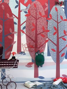 De nieuwste collectie muurprints van INKE via Kinderkamerstylist.nl
