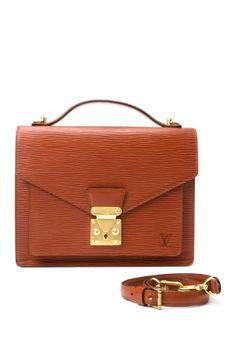 Vintage Louis Vuitton Leather Monceau Shoulder Bag