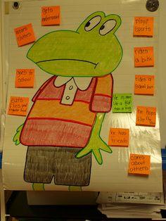Mrs Jump's Class:  Froggy Fun!  Character Analysis chart