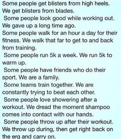 What Rowers do.. I thought I was the only one who hated washing my hair because of blisters