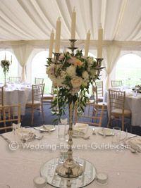 Fl Arrangement On Candelabra Google Search Wedding Pinterest Centerpieces And Flowers