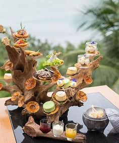 Thailand is now offering afternoon tea inspired by the scenery of Koh Samui. Everything about the Koh Samui Afternoon Tea revolves around Afternoon Tea Stand, Afternoon Tea Parties, High Tea Food, Hotel Food, Hotel Amenities, Food Platters, Appetizers For Party, Food Presentation, Food Design