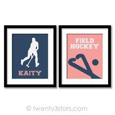 Girl's Field Hockey Love Wall Art - Choose Any Colors - twenty3stars