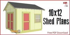 Amazing Shed Plans - Shed plans with gable roof. Plans include a free PDF… Now You Can Build ANY Shed In A Weekend Even If You've Zero Woodworking Experience! Start building amazing sheds the easier way with a collection of shed plans! 10x12 Shed Plans, Shed Plans 12x16, Lean To Shed Plans, Wood Shed Plans, Shed Building Plans, Coop Plans, Garage Plans, Building Steps, Barn Plans