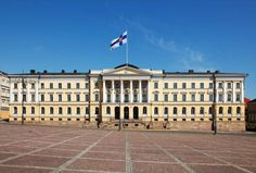 Government Palace (house of the Finnish Council of State, Chancellor of Justice, and Ministry of Finance), Helsinki, Finland.