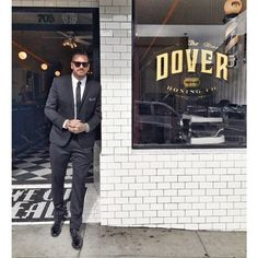 Tattoo artist Luke Wessman at the Dover Honing Co in downtown San Diego a new barber shop with an old soul. Gentleman men's hair LostArtOfTheGentleman