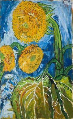 Sunflowers, 1989 - John Randall Bratby