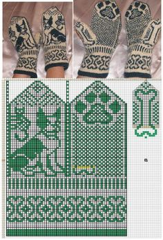 New knitting machine patterns free circular ideas Knitting Machine Patterns, Knitting Charts, Knitting Stitches, Free Knitting, Knitted Mittens Pattern, Knit Mittens, Knitted Gloves, Fair Isle Knitting, Tapestry Crochet