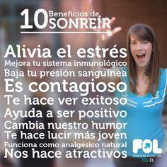 10 beneficios de sonreir » https://www.fol.cl/