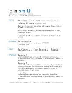 templates of cv in ms word