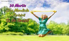 20 Martie Ziua Mondiala a Fericirii Sa fiti fericiti! Happy People, Running, Health, Fit, Martie, Movie Posters, Calendar, Health Care, Shape