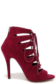 { lulu's chinese laundry lace up heels }