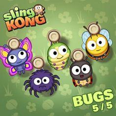 My kong (bugs 5/5) on game Sling Kong 💖 #SlingKong