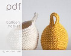 Handmade crochet basket – Etsy