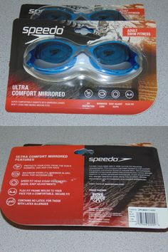 006faf56703 Goggles 74051  Speedo Ultra Comfort Mirrored Adult Swim Goggles-Grey Blue  -  BUY