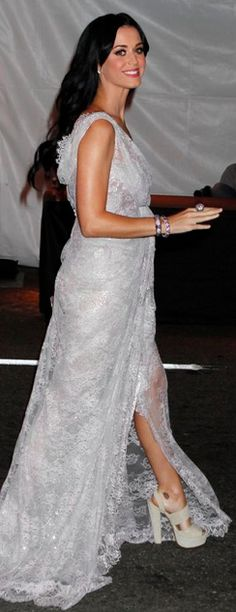 Katy Perry accessorized with M.C.L. By Matthew Campbell Laurenza jewelry with her gorgeous gown