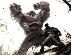 Batman vs. Juggernaut by Michael O'Hare