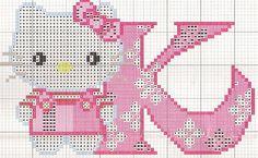 Hello Kitty K hama perler beads pattern