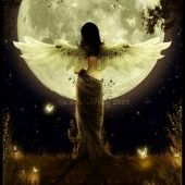 Image shared by Find images and videos about moon, angel and fantasy on We Heart It - the app to get lost in what you love. Angels Among Us, Angels And Demons, Male Angels, Stars Night, Image Blog, I Believe In Angels, Ange Demon, Moon Magic, Beautiful Moon