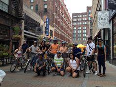 East 4th Street. Downtown Bike Tour. Cleveland, Ohio