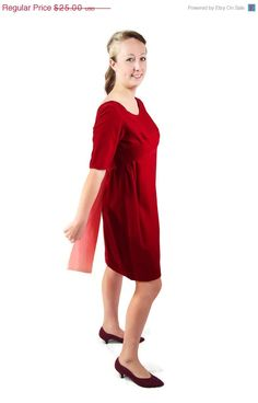 ON SALE 60s Dress / Red / Velvet / Sylvia Ann / by PetticoatsPlus