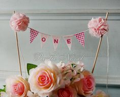 1st Birthday Cake Topper Bunting by RusticNovel on Etsy, $24.00