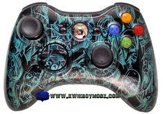 Pearl Green Zombies Xbox 360 Controller - KwikBoy Modz #zombies #zombie #customcontroller #controller #controllers #xbox360 #xbox360controller #moddedcontroller #modded #controllermods #gaming Custom Consoles, Ps4 Or Xbox One, Xbox 360 Controller, Gaming Accessories, Cool Guns, Ps4 Games, Nerdy Things, Zombies, Videogames