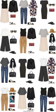 What to Wear in Dubai UAE in Spring Outfit Options What to Wear in Dubai UAE Outfit Options Packing Light List Capsule Wardrobe, Capsule Outfits, Fashion Capsule, Mode Outfits, Fashion Outfits, Travel Wardrobe, Fashion Ideas, Best Travel Clothes, Look Girl