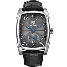 b9a5379e477 Cool Watches  Discount This Month Benyar Square Men Watch Business  Waterproof Quartz Leather Wrist Watch Men Clock Male Relogio Masculino  hodinky erkek kol ...