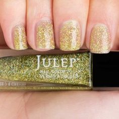Shoshanna: Full-Coverage Yellow Holographic Glitter