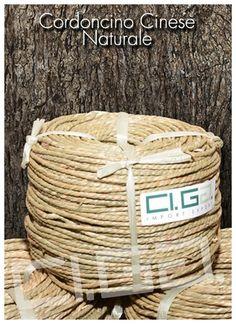 Cordoncino cinese naturale - Ci.Ga. Import / Export s.r.l. importa e commercializza materie prime di alta qualità: tessuto di vienna, trafilato di giunco, canne di bamboo, radici, cresh, salice, midollino di giunco, manao,malacca, manila, vimini, erba palustre, cordoncino cinese e filati in carta cellulosa di ogni genere.