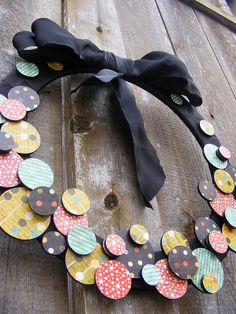 mod podge circle wreath