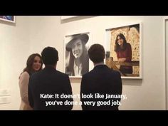 Vogue cover star Kate views photographs of herself at the National Portrait Gallery - YouTube