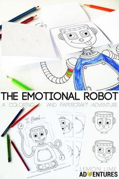 The Emotional Robot Simple Emotional Intelligence Activity for Kids Social Emotional Activities, Emotions Activities, Counseling Activities, Preschool Activities, Calendar Activities, Robot Theme, Robots For Kids, Robots Robots, Emotional Development
