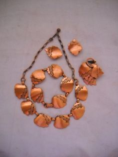 A Parure of Copper JewelryNecklace by TheCedarChestMidland on Etsy, $49.99