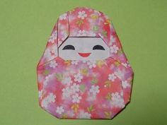 折り紙の姫だるま 簡単な折り方作り方 Daruma Origami