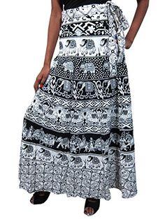 Indian Wrap Skirts Black White Elephant Cotton Long Wrap Around Skirt Mogul Interior http://www.amazon.com/dp/B00RE3KES4/ref=cm_sw_r_pi_dp_d6JJvb1B07YDV