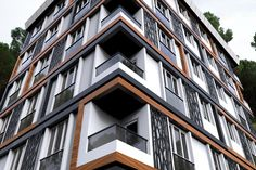 Building Facade, Building Exterior, Hotel Architecture, Architecture Design, Modern Exterior, Exterior Design, Apartment Projects, Cafe Design, Condo