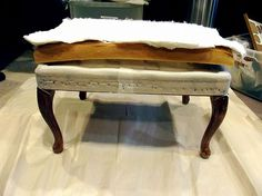 French Ottoman Makeover: From Trash to Treasure