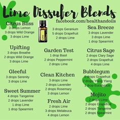 Lime essential oil diffuser blends #doterra