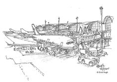 #airport #sketch