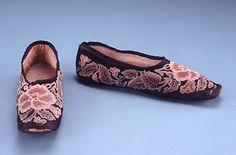 Slippers, c. 1845.