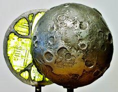 Darkside of the moon / Dematerialization  2014  circuitboardsculpture dutch artist Peter Schudde