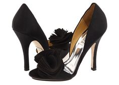 sex shoes   Sexy black d'Orsay pumps with floral vamp embellishments and open toes ...